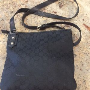 Used authentic Gucci black crossbody bag